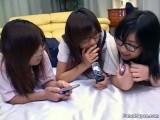 Three girl gang bang