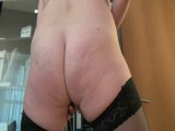 Anal dildo in the office