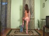 Nadya on the floor