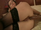 Tight ass rammed with dildo